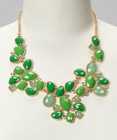 Take a look at this Green Forest Necklace by Natasha Accessories on #zulily today!