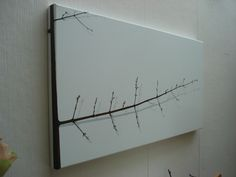 'not a whispering pine' - oil on canvas - 100cm x 50cm (side view)