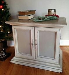 Annie Sloan Chalk Paint French Linen & Old White custom mix.  by Bella Pittura Decor