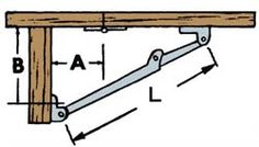 Workshop Supply - Drop leaf supports are extremely handy for supporting fold away table tops and work surfaces.