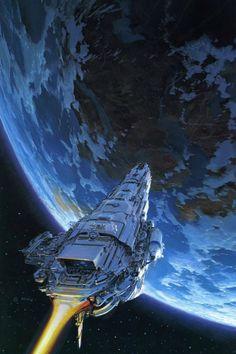 John Berkey scientific fiction illustration star wars