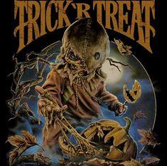 Trick R Treat by Justin Osborne Horror Movie Characters, Horror Movie Posters, Horror Movies, Sam Trick R Treat, Evil Demons, Halloween Drawings, Famous Monsters, Horror Art, Fantasy Creatures