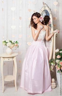 Wedding dress with lace | Одежда и аксессуары ручной работы. Мирослава Карпович в свадебном платье
