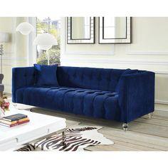 Bea Navy Velvet Sofa - Reviews, Deals & Prices - 18146904
