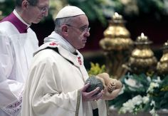 Pope Francis celebrated his first Christmas Eve Mass ...