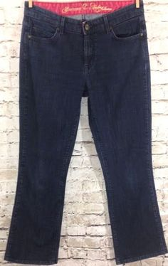 CJ by Cookie Johnson Boot Cut Grace Jeans Size 28 Dark Wash Stretch W30 L30 EUC #CJbyCookieJohnson #BootCut