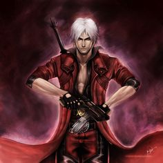 Dante from Devil may cry - hot as usual  http://vanishing-tats.blogspot.hu/2010/10/devil-may-cry-dante.html