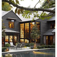 Dark + cool exterior via @archdigest.  Also on the blog details + images of an amazing Australian home.  Have a great night!
