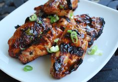Grilled General Tso Chicken Wings by Amee's Savory Dish (Click for the recipe!)