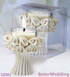 オランダカイウのLillyの蝋燭の好意SZ001の結婚祝い(50pcs/lot)党ギフト、花嫁のシャワーFavor@ http://www.BeterWedding.com