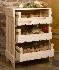 With use of accessories for proper storage of vegetable, it will stay fresh longer and you will establish  order in your kitchen. There are many ideas for storing vegetables and fruits...: