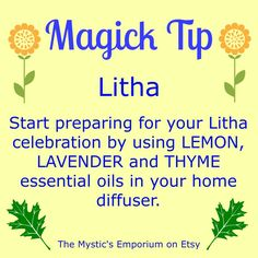 Sabbat Litha - Summer Solstice - Midsummer - magic tip - oil Wicca Witchcraft, Green Witchcraft, Wiccan Witch, Thyme Essential Oil, Sabbats, Practical Magic, Beltane, Moon Goddess, Kitchen Witch