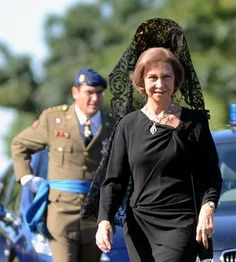 royalhatblog:  Queen Sofia of Spain celebrated the feast of the Virgen del Pilar, patroness of the Civil Guard, October 6, 2013.