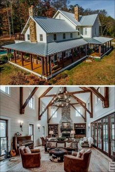Are you searching for pictures for modern farmhouse? Check out the post right here for cool modern farmhouse inspiration. This amazing modern farmhouse ideas appears to be wonderful. Dream House Exterior, Dream House Plans, Dream Houses, Barn Houses, Barn Style House Plans, Pole Barn House Plans, Pool Barn House, Metal House Plans, Family Houses