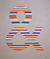 striped ampersand