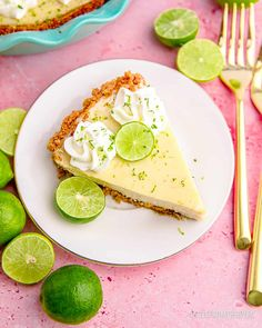 Easy Pie Recipes, Lime Recipes, Dessert Recipes, Cooking Recipes, Desserts, Easy Keys, Best Key Lime Pie, Keylime Pie Recipe, Lime Cake