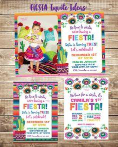 Invitaciones de fiesta Fiesta invitan con foto invitación de