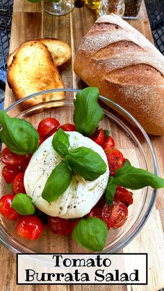 Hi dear! this is one of the best, classic authentic italian food recipes! Amazing tomato burrata salad, with sourdough toasted bread. Learn how to perfect compose a real burrata salad, how's the right seasoning for tomatoes. Really easy recipe, quick recipe, fresh and tasty summery dish. Ready in only 10 minutes, the perfect appetizer os main dish to share with family and friends! #burrata #healthy #tomatoes #salad Salad Recipes Holidays, Side Salad Recipes, Quinoa Salad Recipes, Summer Salad Recipes, Side Dish Recipes, Appetizer Recipes, Vegetarian Recipes, Dinner Recipes, Healthy Recipes