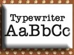 Typewriter Alphabet Embroidery Design