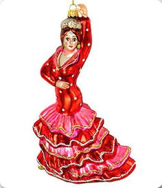 Flamenco Dancer Glass Ornament ($22)