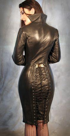 HANDMADE  Steel Boned Italian Leather Corset Dress