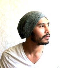 Mens BeanieFathers Day slouch summer Hat Men by MissTopKnot, $27.00