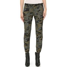 Veronica Beard Field Cargo Pants ($395) ❤ liked on Polyvore featuring pants, capris, camouflage cargo pants, lined cargo pants, slim fit pants, lightweight cargo pants and camo pants