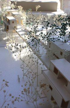 Maquette d'habitations sur pont à Chandigarh, la ville de Le Corbusier. Anne-Aël Tournier
