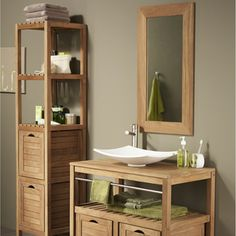 Salle de bains idees on pinterest surabaya rustic - Meuble d angle salle de bain leroy merlin ...