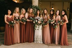 Moody, Romantic, Romeo + Juliet meets La Dolce Vita Inspired Wedding // Kolbie + Jonathan - The little thins - Event planning, Personal celebration, Hosting occasions Fall Wedding Bridesmaids, Bridesmaid Dresses Under 100, Asking Bridesmaids, Mismatched Bridesmaid Dresses, Elope Wedding, Wedding Bells, Dream Wedding, Wedding Dresses, Bridesmaid Dress Colors