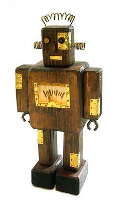 Wooden robot by Matsumoto, Tokyo