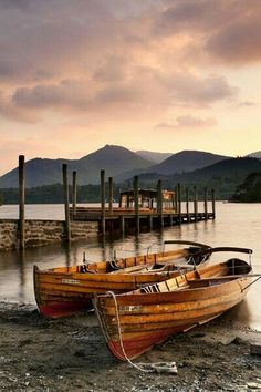 Derwentwater, The Lake District, England, by Chris Ceaser photography Cumbria, Lake District, Landscape Photography, Nature Photography, Fishing Photography, Boat Art, Old Boats, Boat Painting, Wooden Boats