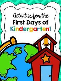 First Days of Kindergarten Pack!  Ready-to-print activities for the first few days of kindergarten.