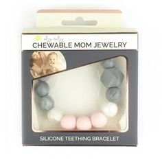 The Itzy Ritzy Teething Happens Beaded Silicone Teething Bracelet provides on-trend fashion for mom and function for baby. Beyond fashion, the soothing silicone teething jewelry is safe and soft on baby's gums and provides an easy sensory tool to help keep baby's focus while breastfeeding. Made with non-toxic, 100% food grade silicone which is similar to pacifiers and nipples and free of BPA, PVC, phthalates, lead and cadmium. Bracelet measures 7.5 inches in circumference and can be h...