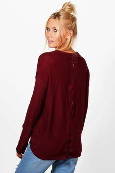 82101e2c Brave Soul Eleanor Lace Up Back Jumper Small TD091 JJ 13 #fashion #clothing  #