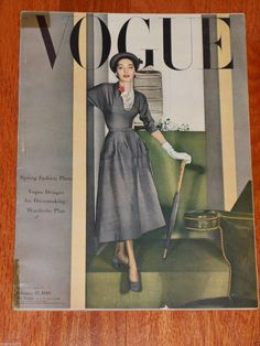 Vintage Vogue Magazine February 15 1948 Horst Cover Cecil Beaton Photos | eBay