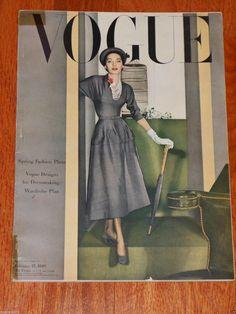 Vintage Vogue Magazine February 15 1948 Horst Cover Cecil Beaton Photos   eBay