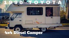 1990 Toyota Hiace Diesel Truck Camper by OttoEx Toyota Motorhome, Mini Motorhome, Toyota 4x4, Toyota Hiace, Mini Trucks, Diesel Trucks, Mobile Home, Camper Van, Recreational Vehicles