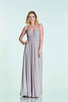 9534193dd7f Tiffanys Illusion Beautiful Adriana chiffon prom dress with laced back and  sparkling waistband in Blush