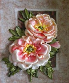 Wonderful Ribbon Embroidery Flowers by Hand Ideas. Enchanting Ribbon Embroidery Flowers by Hand Ideas. Ribbon Embroidery Tutorial, Simple Embroidery, Types Of Embroidery, Learn Embroidery, Silk Ribbon Embroidery, Embroidery For Beginners, Embroidery Stitches, Embroidery Patterns, Hand Embroidery