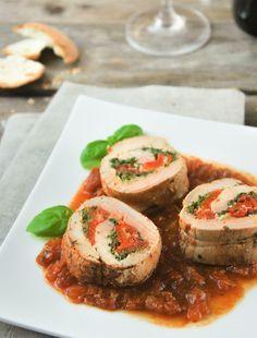 Solomillo ibérico relleno de tomates confitados   L'Exquisit