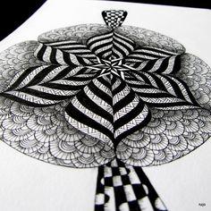 original art  PATU  Mandala hand drawn by nzjo TATTOO IDEA