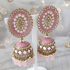 Jhumki Earrings, Dangle Earrings, Crochet Earrings, Silver Paint, Dangles, Ivory, Gold, Jewelry, Jewlery