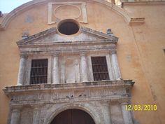 Frente de la Catedral, en la Cartagena antigua.
