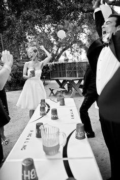 wedding beer pong