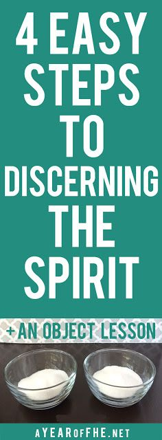 A great object lesson to teach children how to discern the Spirit