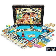 Pirate-Opoly Board Game.  Looks pretty cute. For ages 5-6 yrs old. For pirate lovers.  Can get many places. i.e.: Walmart.    -M. Gravelle