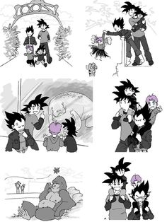 Vegeta and Goku take their sons to the Zoo >