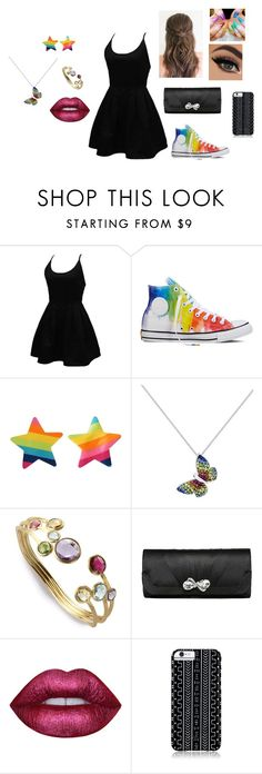"""""""Man KIller"""" by equestrianjumper141 ❤ liked on Polyvore featuring WithChic, Converse, Marco Bicego, Lime Crime and Savannah Hayes"""