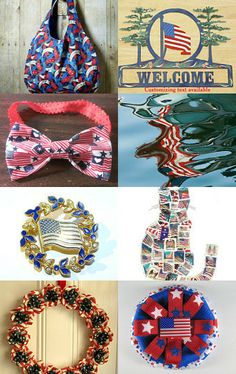 Hooray for the Red, White and Blue! by Michele on Etsy #FlagDay #RedWhiteAndBlue #MaineTeam